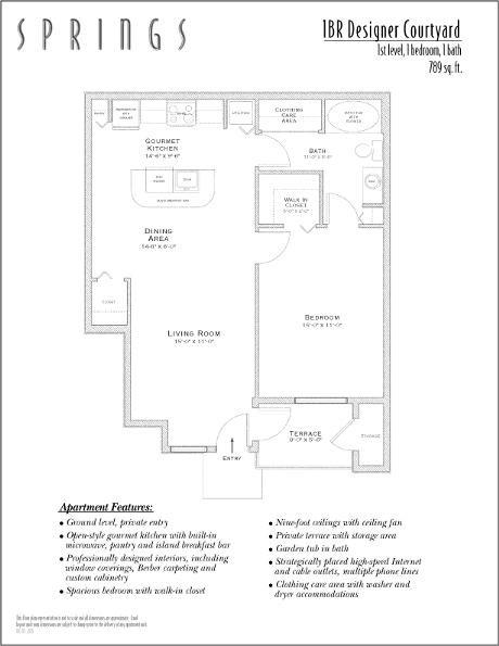 789 sq. ft. DESIGNER COURT floor plan