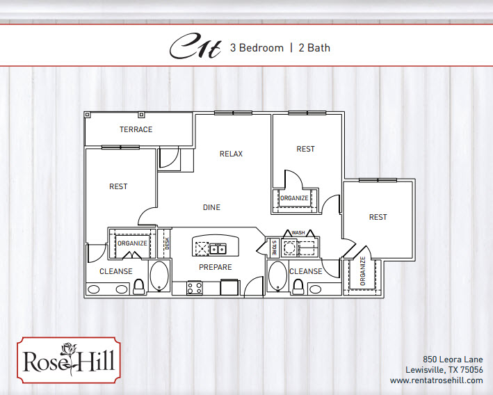 1,588 sq. ft. B4T/B4TP floor plan