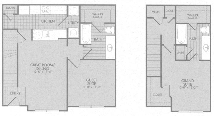 1,116 sq. ft. Fairmont 50% floor plan