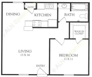 630 sq. ft. F floor plan