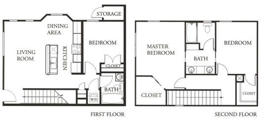 1,251 sq. ft. Ruby floor plan