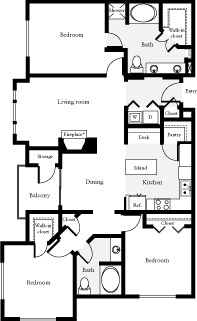 1,315 sq. ft. Martin floor plan