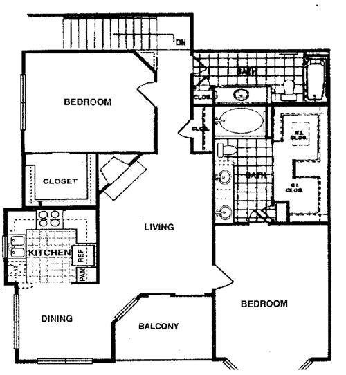 1,325 sq. ft. Magnolia F2 floor plan