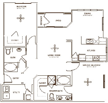1,312 sq. ft. ORCHARD floor plan