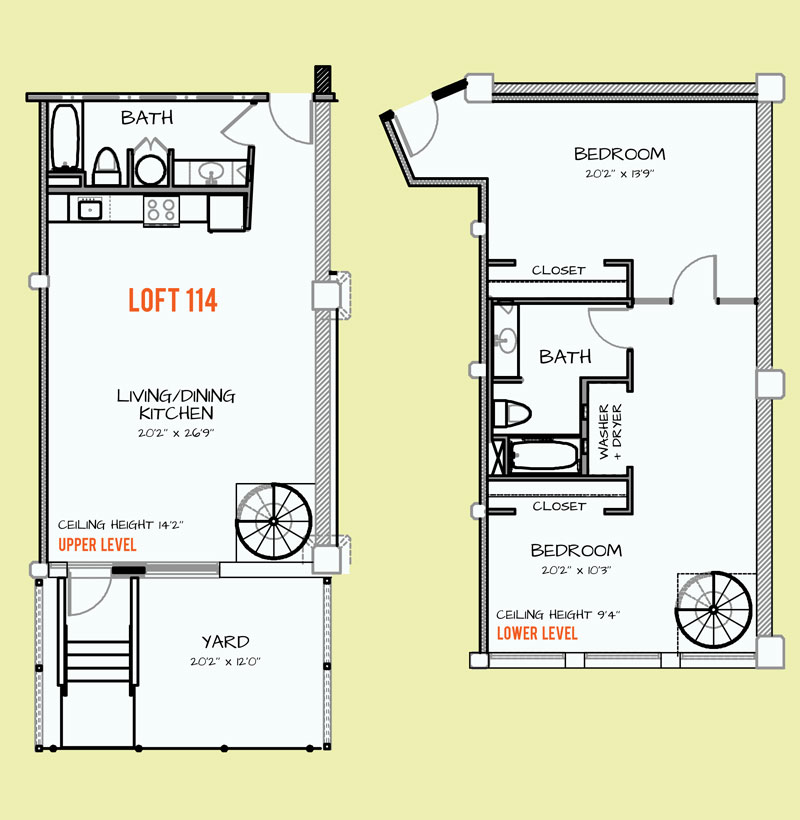 1,137 sq. ft. 218 floor plan