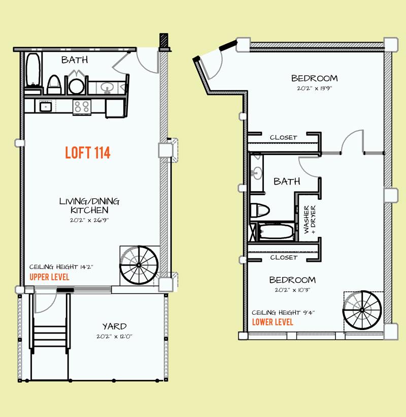 1,137 sq. ft. 218 floor plan