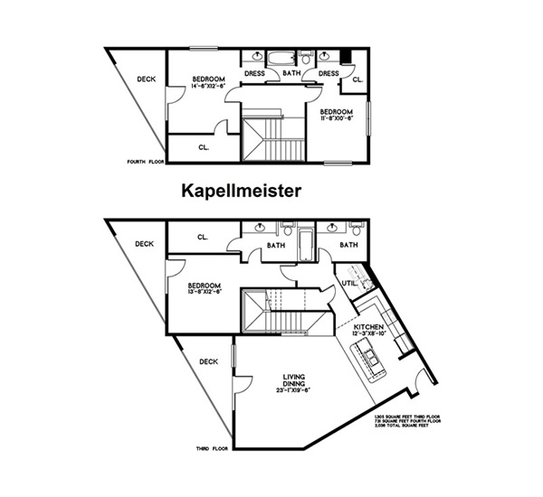 2,036 sq. ft. Kapellmeister floor plan