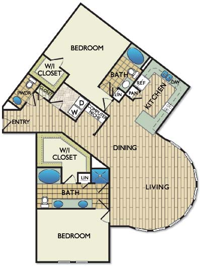 1,665 sq. ft. ROTHKO floor plan