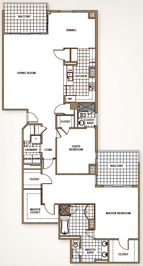 2,822 sq. ft. floor plan