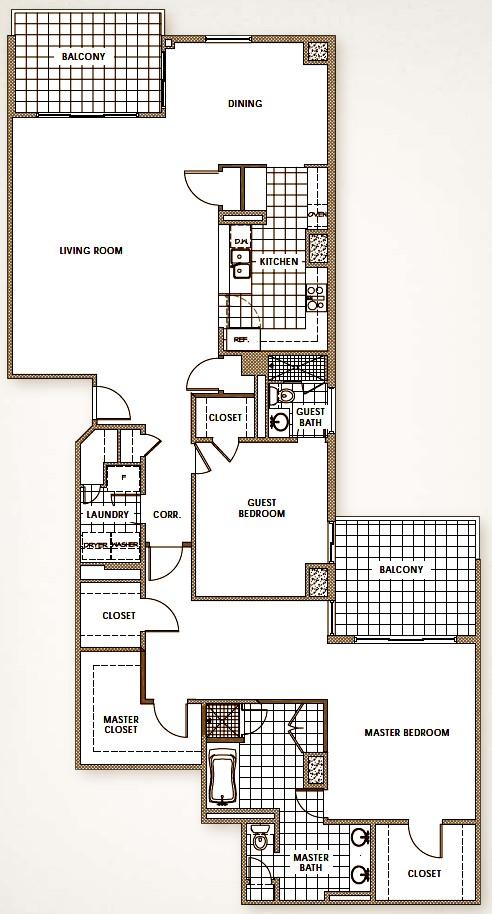 2,822 sq. ft. floor plan