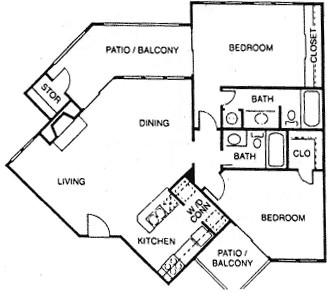 1,027 sq. ft. G floor plan