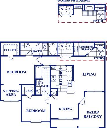 1,237 sq. ft. B4 floor plan
