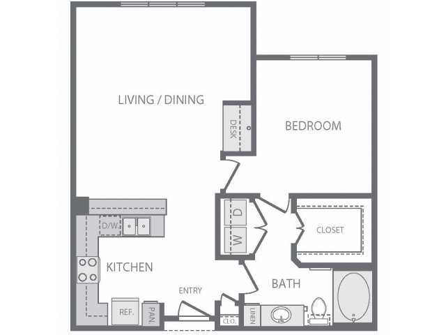830 sq. ft. to 942 sq. ft. A7 floor plan
