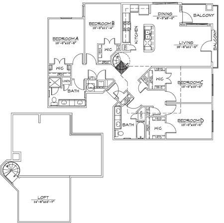 1,704 sq. ft. floor plan