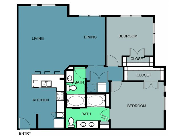 1,285 sq. ft. to 1,398 sq. ft. Sanger floor plan