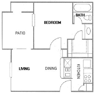 484 sq. ft. A1 floor plan