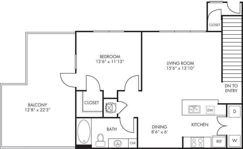 839 sq. ft. Mesa floor plan