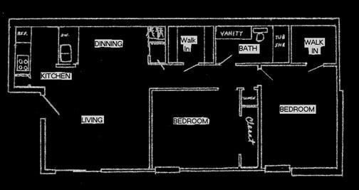 810 sq. ft. floor plan