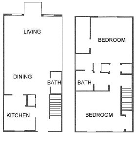 1,150 sq. ft. floor plan