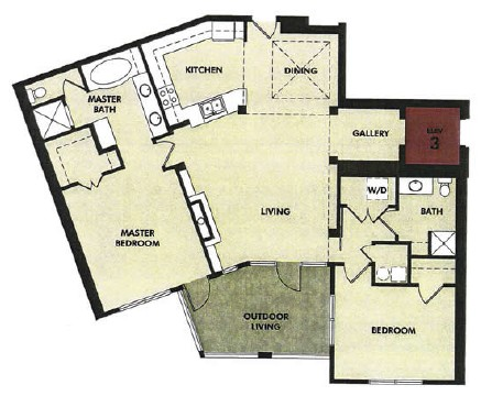1,486 sq. ft. Frio floor plan