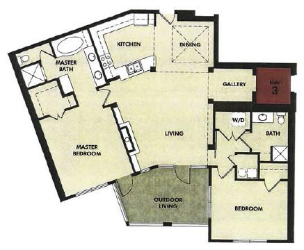1,486 sq. ft. Frio floor plan