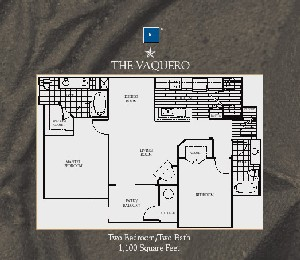 1,100 sq. ft. Vaquero floor plan