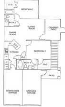 925 sq. ft. B/60% floor plan