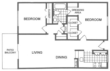 936 sq. ft. Bryan floor plan