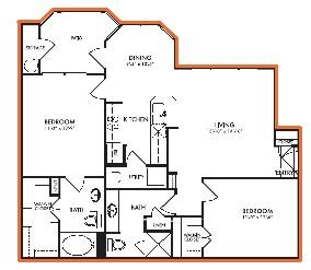 1,056 sq. ft. Laurel floor plan