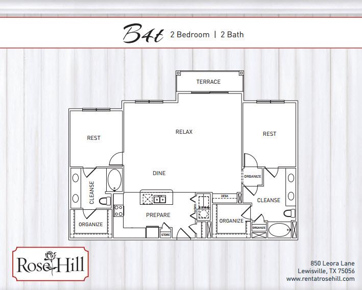 1,428 sq. ft. C1T/C1TP floor plan