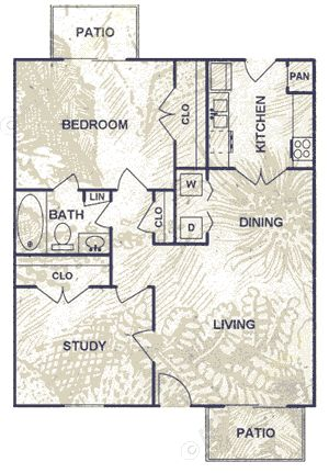 737 sq. ft. floor plan