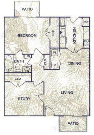 737 sq. ft. floor plan