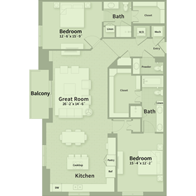 1,712 sq. ft. E4 floor plan