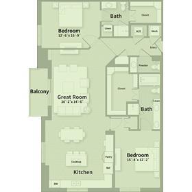 1,712 sq. ft. E4 floor plan