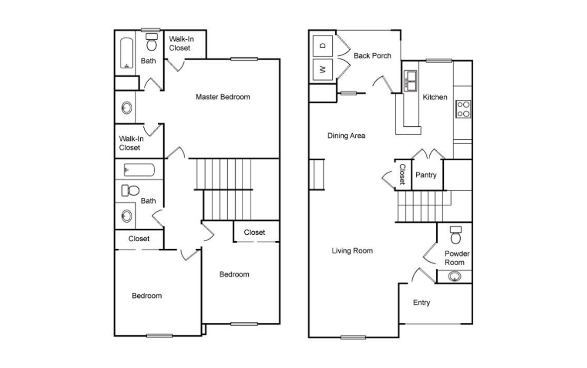 1,209 sq. ft. C1-50% floor plan