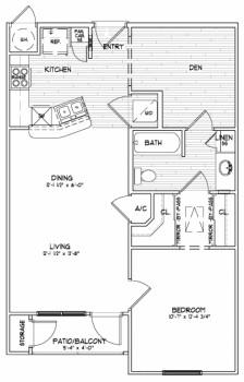 765 sq. ft. A2 SUN floor plan