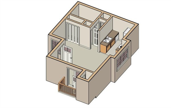 450 sq. ft. Spring floor plan