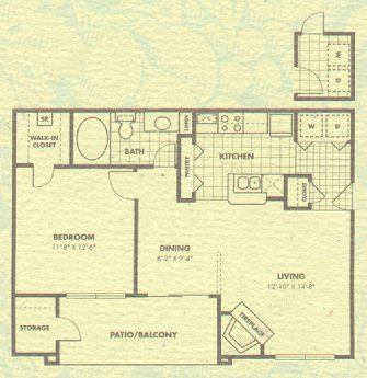 704 sq. ft. Addison floor plan