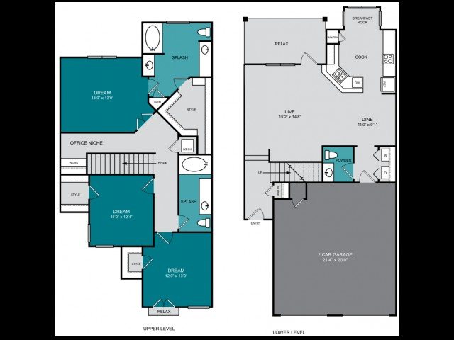 1,786 sq. ft. C1 TH GRAND floor plan