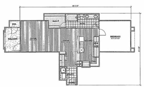 908 sq. ft. A5/Bismarck floor plan
