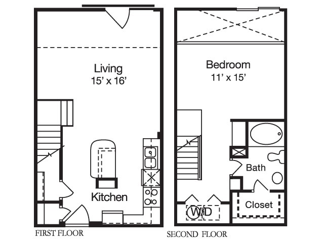 816 sq. ft. floor plan