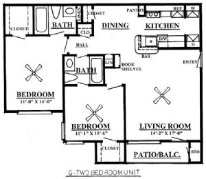 877 sq. ft. B4/60% floor plan