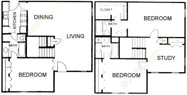 1,212 sq. ft. floor plan