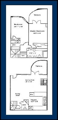 1,036 sq. ft. BONAIRE floor plan