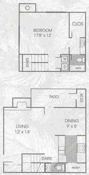 850 sq. ft. A4 floor plan