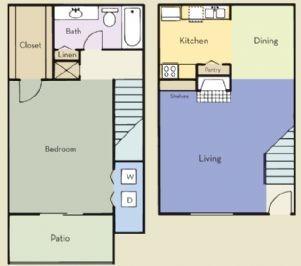 768 sq. ft. Charleston floor plan