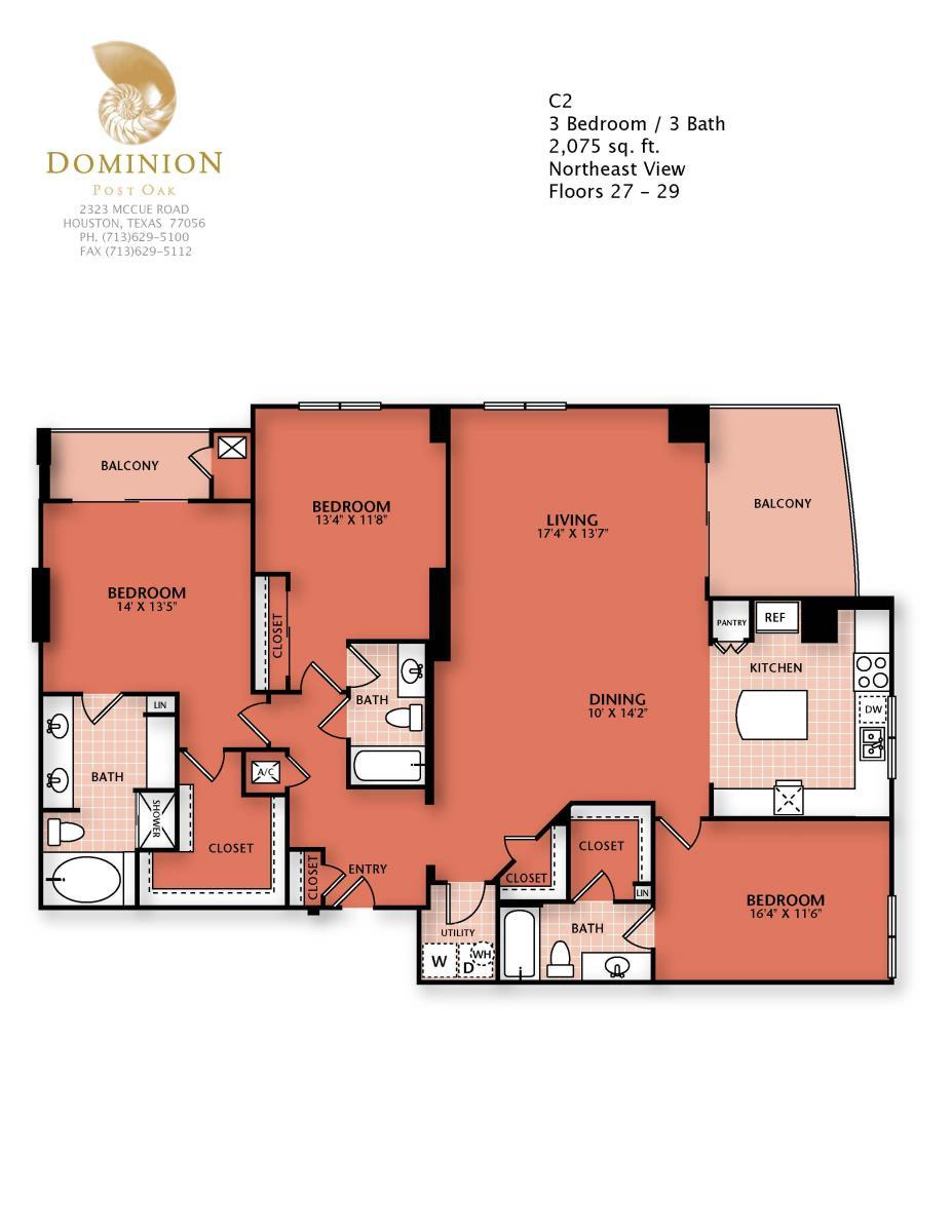 2,075 sq. ft. C2 floor plan