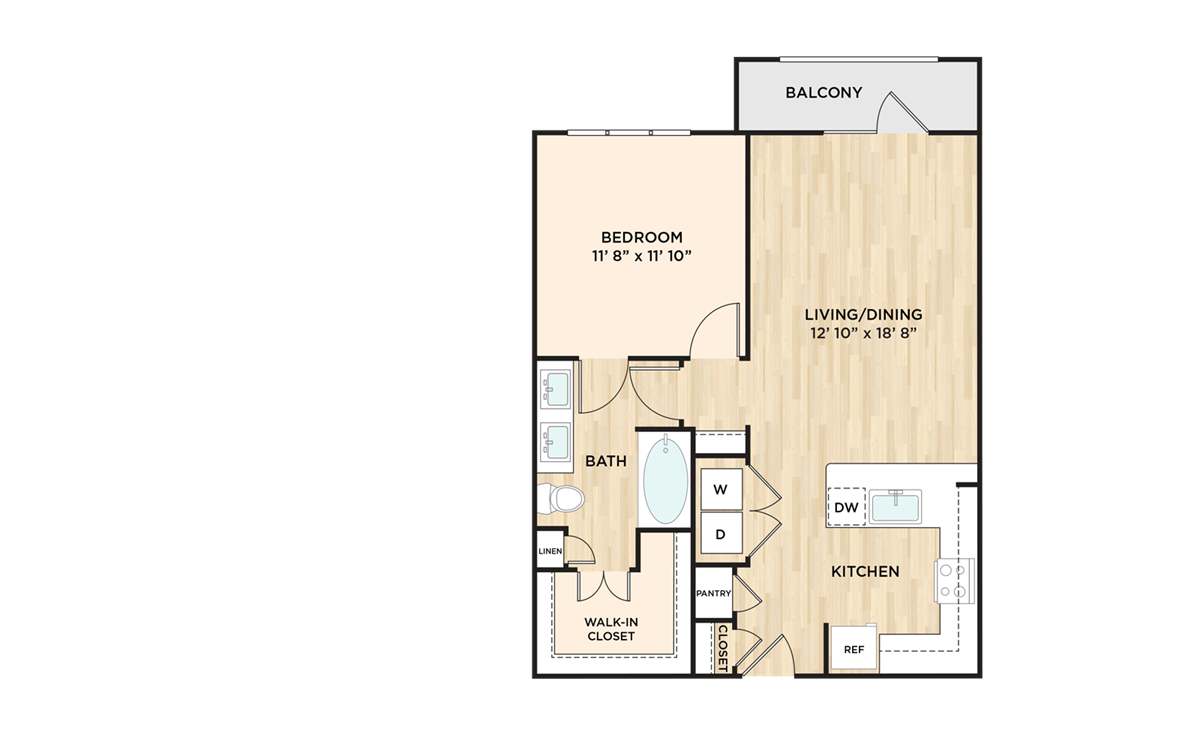 780 sq. ft. A4 floor plan