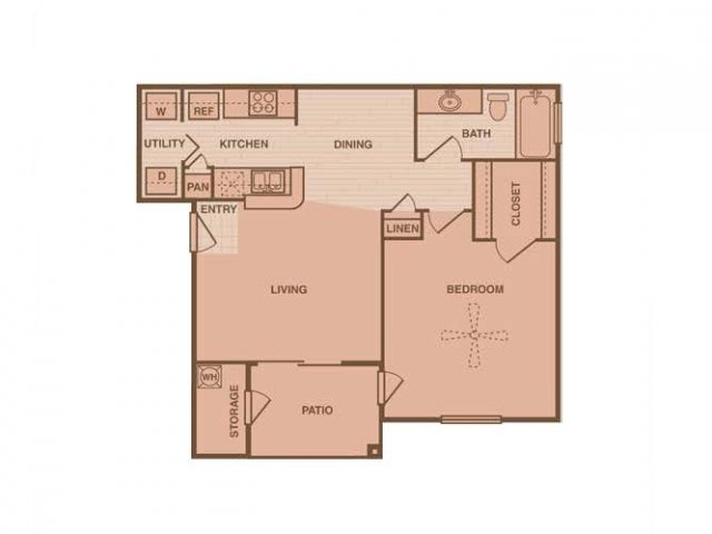 641 sq. ft. Westhaven floor plan
