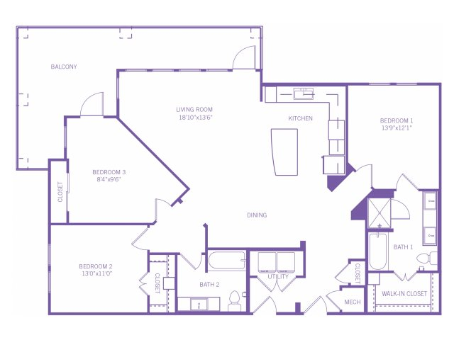 1,517 sq. ft. C1Aag floor plan